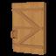 Hewn Log Door